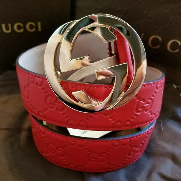 22ea28d1d Nordstrom Accessories | Authentic Gucci Belt Red Guccissima Print ...